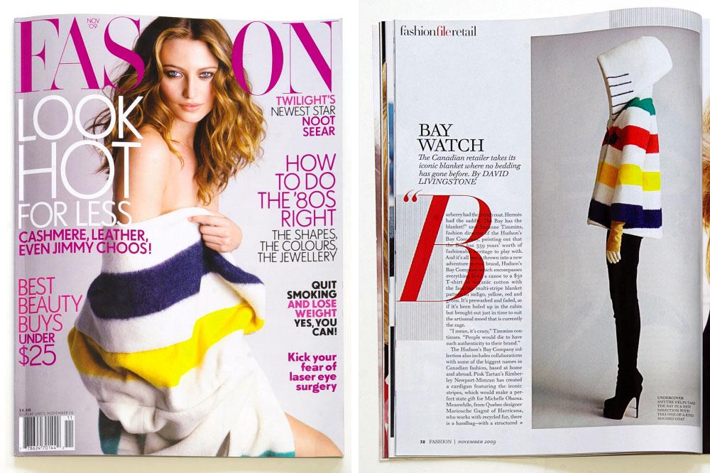 Arcade Hudson S Bay Company Designer Collaborations In Fashion Magazine